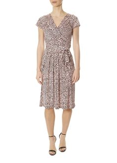 This is the 'Blair' Pink Leopard Dress by stunning brand Onjenu. The Blair dress is a great flattering A-line shape, with a thick empire waist band to cover and hide this area softly. Leopard Dress, Pink Leopard, Blair Dress, Striped Shorts, Yellow Dress, Short Sleeves, Dresses For Work, London, Clothing