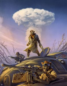 Michael Whelan - Cover art for Mutant Hunter: The Skin Bags by Stephen R. Cox, 2015
