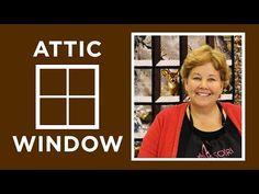Attic Window Panel Quilt Pattern by Missouri Star - Missouri Star Quilt Co. - Missouri Star Quilt Co. window pane ideas Attic Window Panel Quilt Pattern by Missouri Star Jenny Doan Tutorials, Msqc Tutorials, Quilting Tutorials, Quilting Tips, Machine Quilting, Quilting Projects, Quilting Designs, Attic Window Quilts, Missouri Star Quilt Tutorials