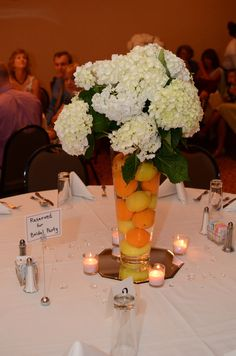 Summer wedding centerpieces by @Sabrina Carter