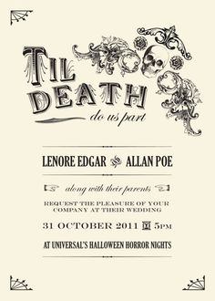 Spooktacular halloween wedding invitations gothic wedding halloween themed wedding invite cute little idea yo embrace the day filmwisefo