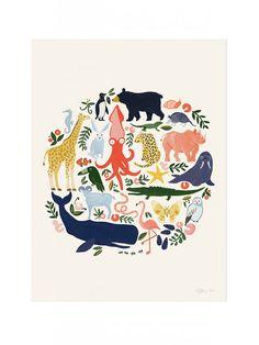 SALE: Large 'Animal Planet' Poster Print