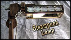 Steampunk lamppu kierrätys projekti