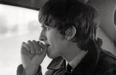 "thateventuality:  ""  George Harrison, photographed by Ringo Starr  Photo © Ringo Starr  """"George Harrison is the reluctant Beatle. He did not expect fame. When it came, he was bewildered. He is the most affable of the four - instantly friendly, talkative..."