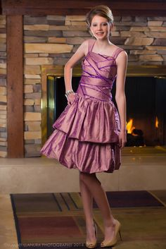 A flirty bridesmaid. From elyseREUBEN www.elysereuben.com