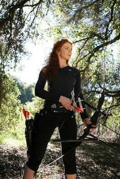 Virginia Hankins, professional archer, jouster, and knight:
