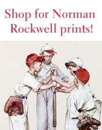 Norman Rockwell I had this on Matt's wall when he was little. Baseball themed room