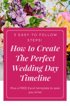 How to Create The Perfect Wedding Day Timeline