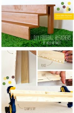 DIY Cupcake Stand Football Bleachers www.spaceshipsandlaserbeams.com