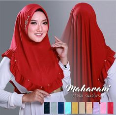 Jual Jilbab bergo Khimar Maharani Swarovski / Hijab terbaru Dilara Mini / kerudung swarovski Keterangan Hijab: Model Jilbab khimar terbaru Maharani yang juga bi
