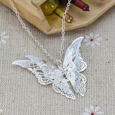 Lovely Butterfly Chain Necklace