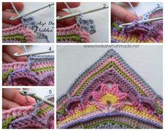 Sophies Garden {Photo Tutorial} free crochet patterns squaring off the mandala