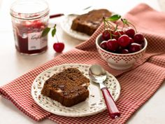 Sweet Dessert - Cake, Dessert, Food, Cherry, Jam, Berry, Plate, Cookie, Spoon, Pie