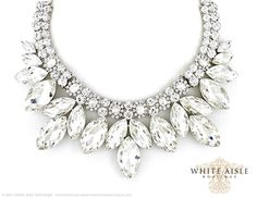 Crystal Bridal Jewelry Set, Vintage Inspired Bridal Necklace, Rhinestone Statement Necklace, Chunky Necklace, Wedding Jewelry by WhiteAisleBoutique on Etsy https://www.etsy.com/listing/222247198/crystal-bridal-jewelry-set-vintage