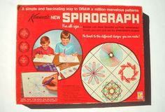 1968 Vintage Kenner Spirograph No. 401 Drawing Art Design Set 1968 Vintage Kenner Spirograph No. 1960s Toys, Retro Toys, Vintage Toys 1960s, My Childhood Memories, Childhood Toys, School Memories, Peter Et Sloane, Die Beatles, Nostalgia