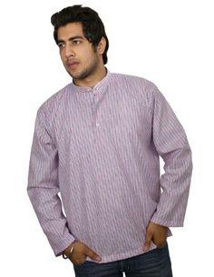 Ethnic Indian Costume Cotton Shirt Blue Red Stripped Short Kurta XL ShalinIndia,http://www.amazon.com/dp/B00IKC90J2/ref=cm_sw_r_pi_dp_GSeHtb0PTYBA0A76