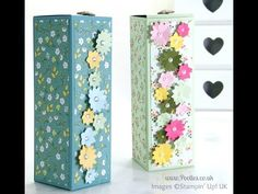 Fold Flat Box Tutorial using Stampin' Up! All Abloom DSP Stack