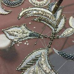 1,204 отметок «Нравится», 5 комментариев — fashion embroidery (@matreshki.rf) в Instagram: «@studiononsequitur - Grey glitter... to honor the beautiful monsoon skies | #embroidery #design…»