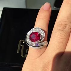 Fei Liu. Via Charlotte Esprit Joaillerie (@espritjoaillerie) on Instagram: Beautiful 10ct Helix Unheated Mozambique Ruby Ring. #jewels @espritjoaillerie @feiliufinejewellery @mr_feiliu