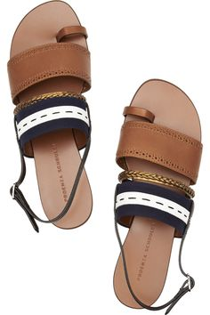 PROENZA SCHOULER  Leather and canvas sandals