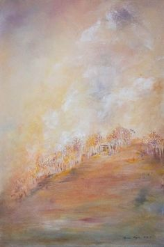 """""""Meet Me At the Poplars"""" by Melanie Meyer Available for Purchase .Sized 900 cm x 600 cm"""