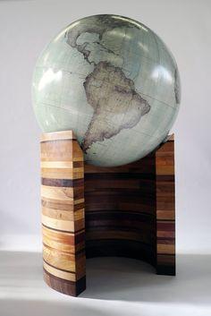 The Wooden Curve :: Bellerby and Co Globemakers, London, England. Makers of bespoke handmade artisan globes. #Woodwork #Handmade #Globe