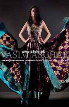 Vasim Asghar Wedding Wear Collection 2013 For Women