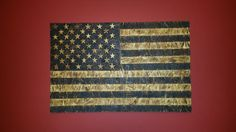 Burnt Wood Stars & Stripes US Flag by Zer0Dark30 on Etsy