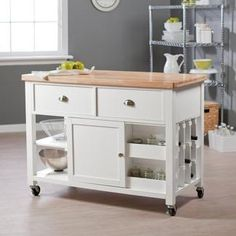 Stinson Kitchen Island with Wine Storage