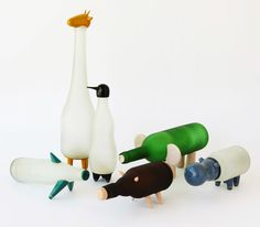 "May I introduce you ""the animal farm"" by Nishi Chauhan? Just brilliant! / #recycled #crafts"