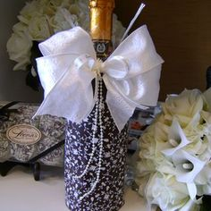 Designer chocolate dipped wine bottle.JPG