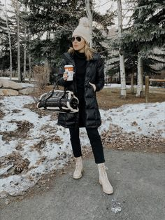 WHAT TO PACK FOR PARK CITY IN THE WINTER | Jaime Shrayber | sharing 5 outfits I packed for Thanksgiving in Park City #winteroutfits #parkcity #travel New York Outfits, Paris Outfits, City Outfits, Winter Travel Outfit, Winter Fashion Outfits, Fall Winter Outfits, Fall Fashion, Park City Utah, City Style