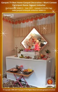 Deepak Umbarkar Page on Ganpati.TV where all Ganpati festival decoration pictures and videos are shared.