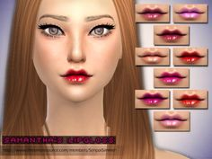 The Sims Resource: Samantha's Lipgloss by Senpai Simmer • Sims 4 Downloads