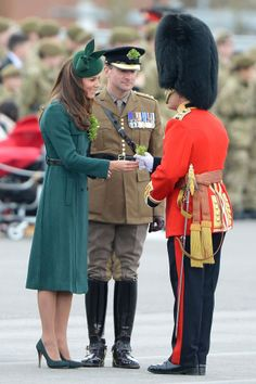 Duchess of Cambridge style file - Hobbs emerald green coat.  A year's difference.