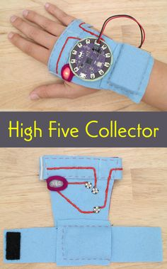In this basic wearables project, you will build a circuit to collect high fives.