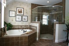 Separate shower and tub in the master bath - looooove!!!!    #mykchdreamhome
