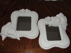 Vintage mirrors shabby chic white by SummersBreeze on Etsy, $9.99