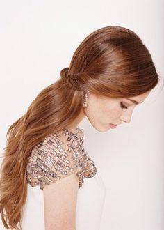 half up half down straight wedding hair - Google Search