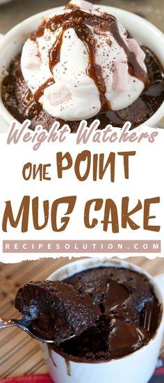 WEIGHT WATCHERS ONE POINT MUG CAKE - Recipe Solution