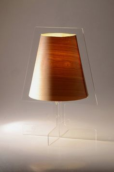 Unique and Modern Lamp with Transparent Base   Minimo Lamp