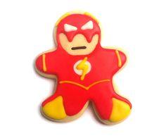 Flash Superhero Sugar Cookies