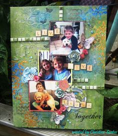 Together Mixed Media Canvas - Honey Chai Collection; Kaisercraft Templates, Stamps, Rub-Ons, and Wood Veneers