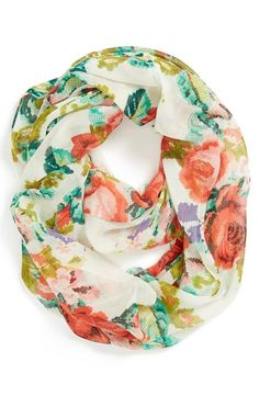 Need this! BP. Floral Print Infinity Scarf