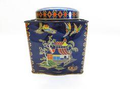 Vintage Daher Tin Oriental Decor Asian Tin by FoxLaneVintage Oriental Decor, Asian Decor, Metal Tins, Eclectic Decor, I Shop, Shabby, Decor Ideas, English, Candy