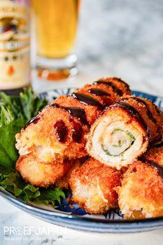 Recept: Varkensvleesrolletjes met shiso (buta-shiso maki) | Proef Japan Shabu Shabu, Salmon Burgers, Sushi, Snacks, Ethnic Recipes, Food, Tapas Food, Salmon Patties, Appetizers
