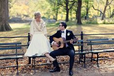 Vintage Engagement Photos in New York City