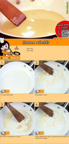 Barna rántás, ami számos leves, szósz és főzelék alapja lehet. A Barna rántás recept videóját a kártyán levő QR kód segítségével bármikor megtalálod! :) #BarnaRántás #Barna #Rántás #ReceptVideók #Recept Breakfast Time, Vanilla Cake, Bacon, Recipies, Food And Drink, Cooking Recipes, Qr Codes, Meals, Desserts