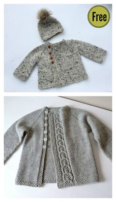 Olive You Baby Cardigan Free Knitting Pattern #freeknittingpattern #babyknits #sweater