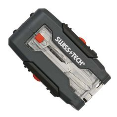 Swiss +Tech Transformer Micro-Wrench 7-in-1 Pocket Tool Kit w/LED
